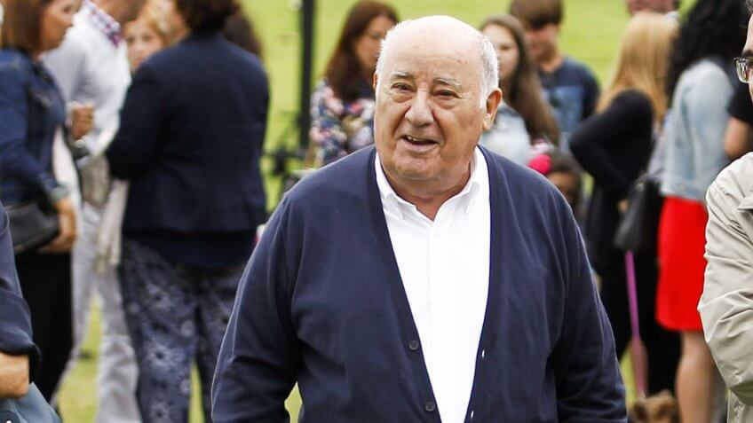 Mandatory Credit: Photo by AP/REX/Shutterstock (8522205b)Amancio Ortega Gaona, founding shareholder of Inditex fashion group, best known for its chain of Zara clothing and accessories retail shops, walks during the Casas Novas International Jumping Show in Arteixo, A Coruña, in the Galicia region of northwest Spain.