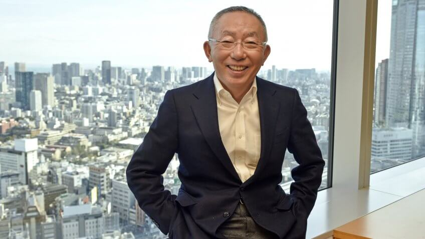 Mandatory Credit: Photo by FRANCK ROBICHON/EPA/REX/Shutterstock (8374010d)Tadashi YanaiCEO of Fast Retailing operating Uniqlo interview in Tokyo, Japan - 08 Feb 2017A picture made available on 14 February 2017 shows Tadashi Yanai, founder, Chairman and CEO of Fast Retailing which operates Uniqlo clothing stores, posing for a photo at the company headquarters in Tokyo, Japan, 08 February 2017.