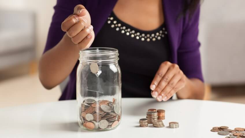 spare change in a jar