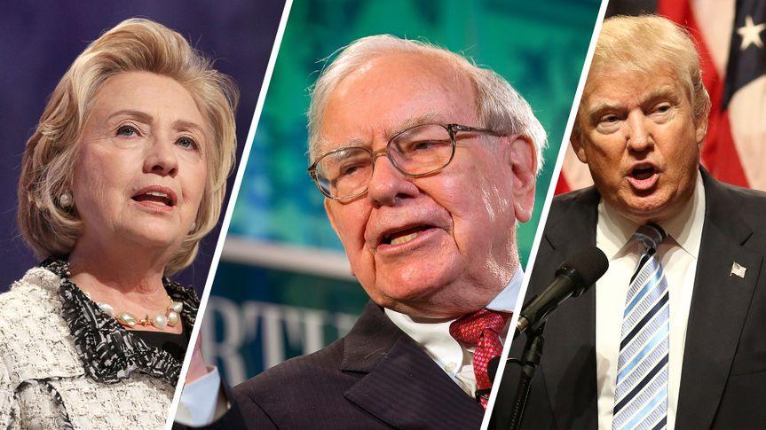 Hillary Clinton Warren Buffett Donald Trump