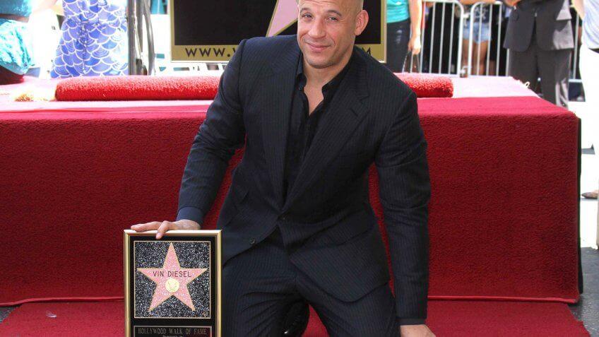 Vin Diesel with his Hollywood star