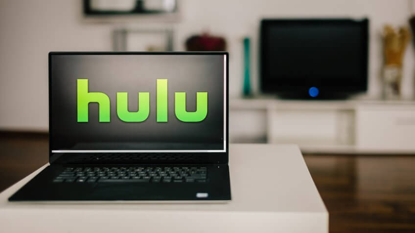 hulu logo on laptop