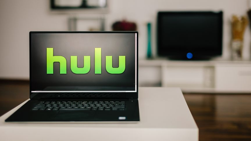 hulu logo on laptop