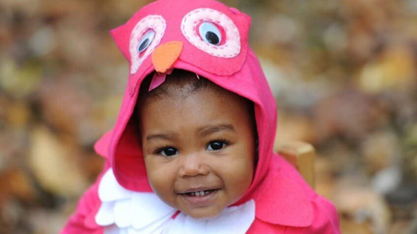 An owl costume.