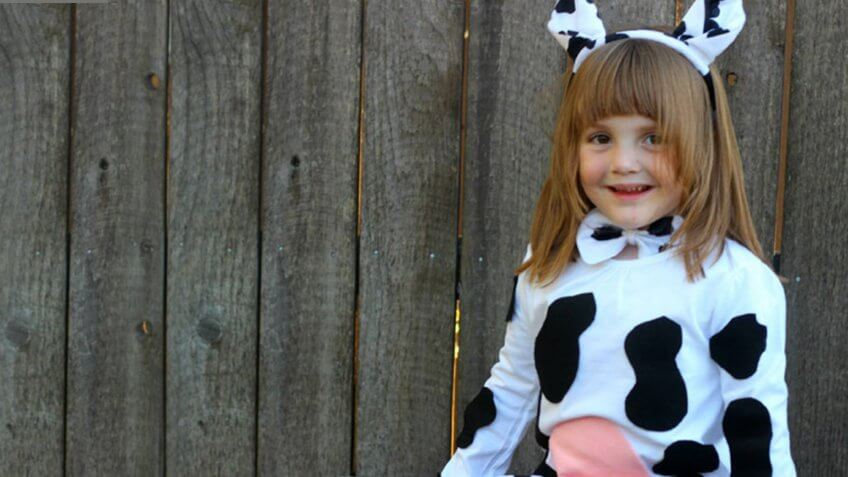 A cow costume.
