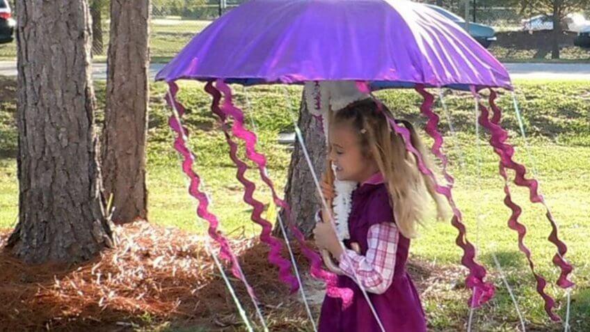 A jellyfish costume.