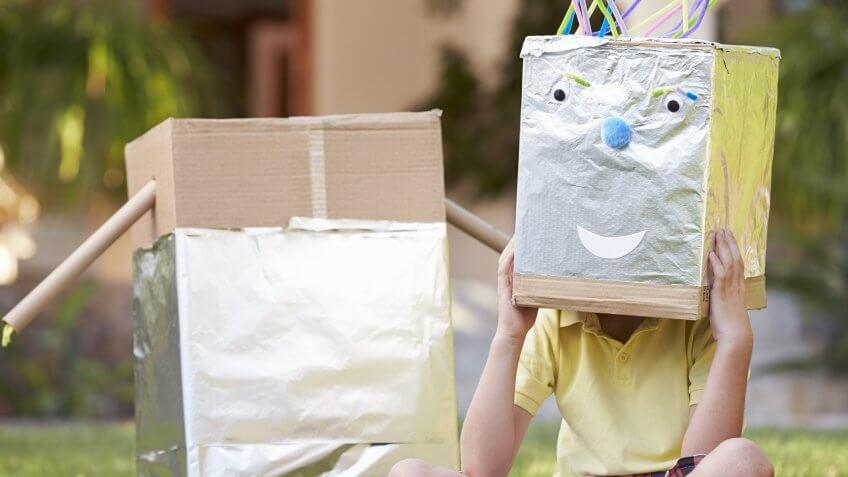 A robot costume.