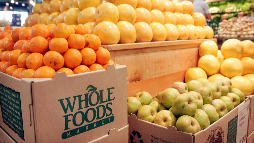 CHICAGO - MAY 04:  Fresh fruit is displayed at a Whole Foods store on May 4, 2006 in Chicago, Illinois.