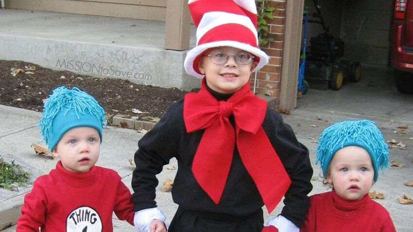 The Cat in the Hat costume.