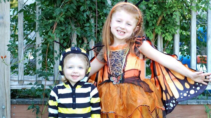 A caterpillar costume.