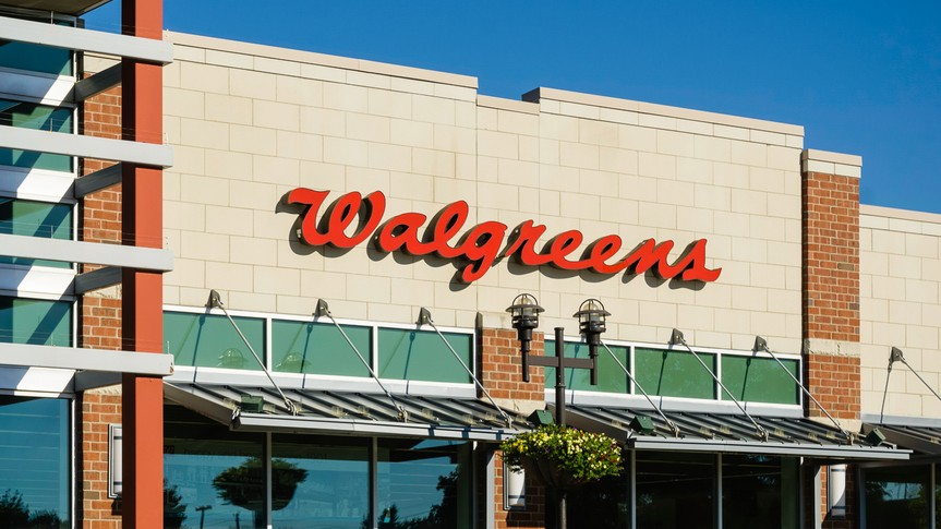 exterior of traditional walgreens store