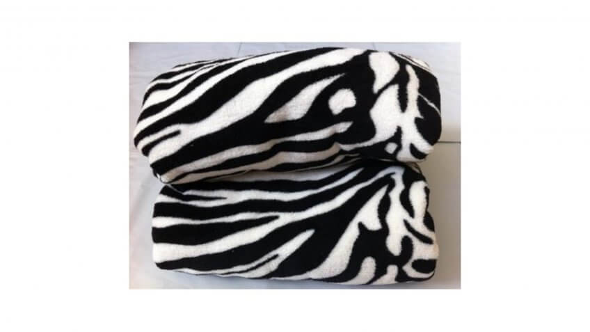 Zebra Print Fleece Throw Blanket