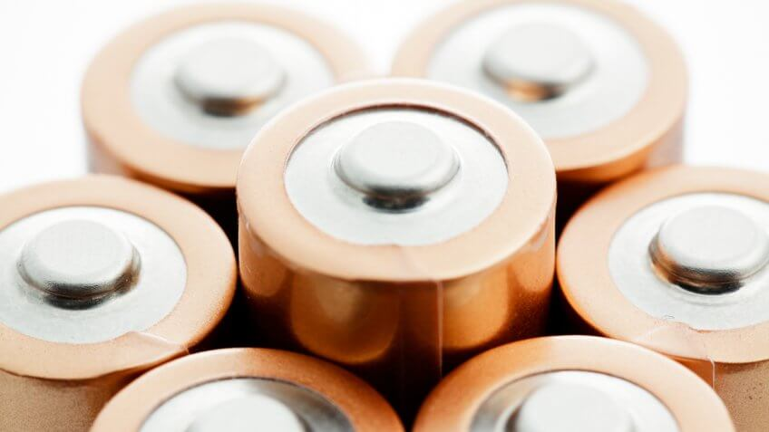 several small batteries
