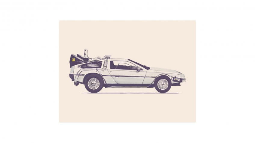 Delorean 'Back to the Future' Wall Art