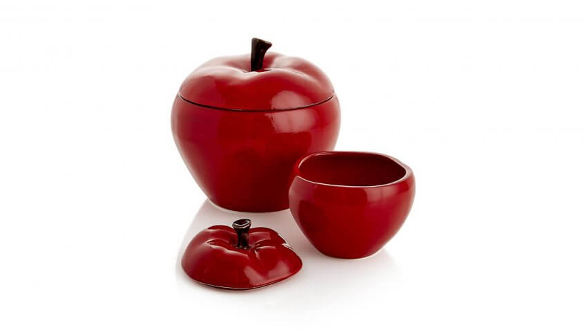 Large Apple Canister