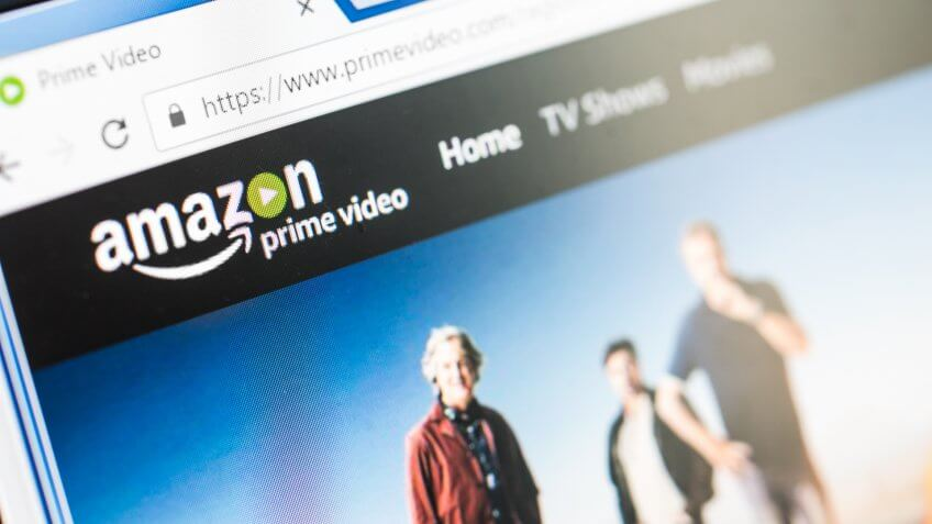 close up of amazon prime video screen