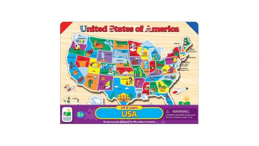 Lift & Learn USA Map Puzzle