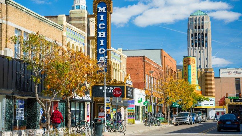 Ann Arbor Michigan downtown main street