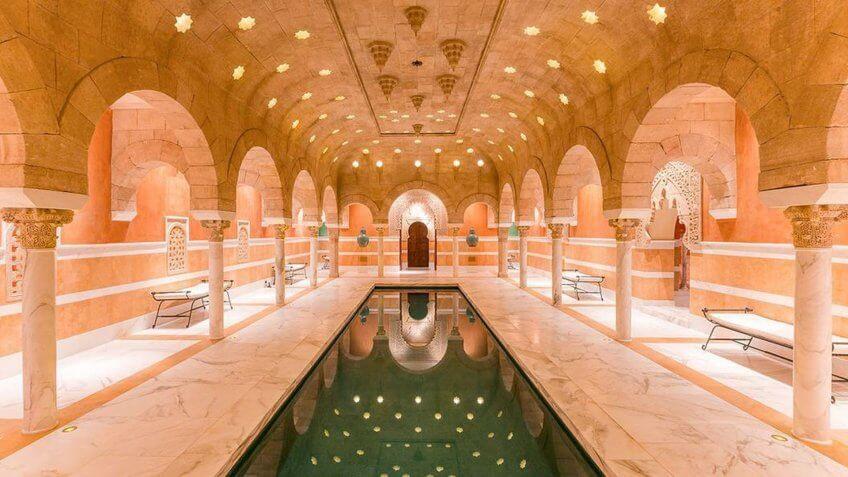 Indoor pool in Hacienda de la Paz