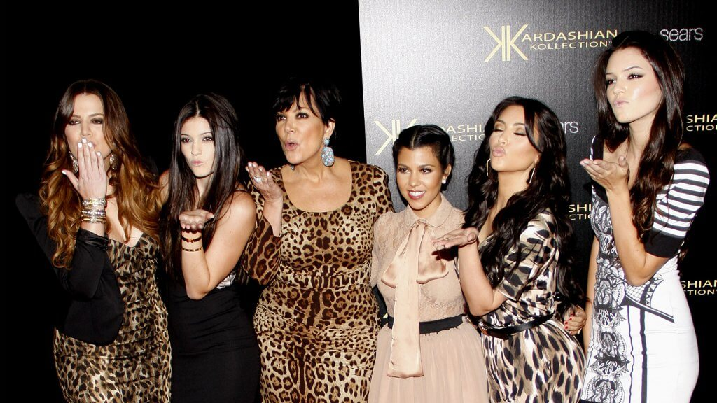 Kendall with her mother and family