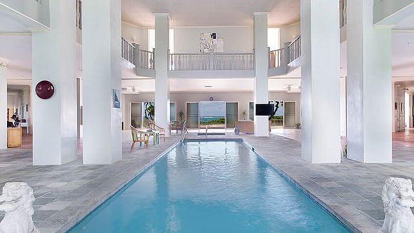 Indoor pool in an estate home in Hawaii