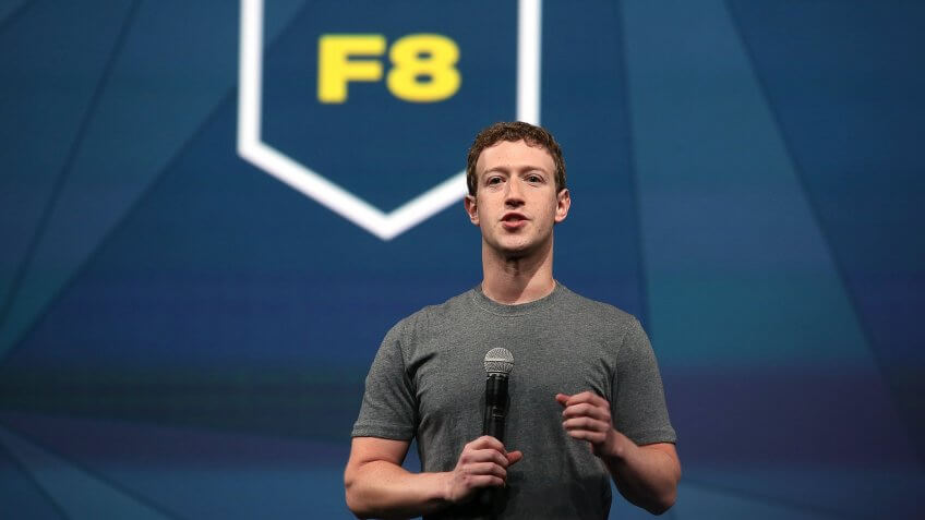 SAN FRANCISCO, CA - APRIL 30:  Facebook CEO Mark Zuckerberg delivers the opening keynote at the Facebook f8 conference on April 30, 2014 in San Francisco, California.