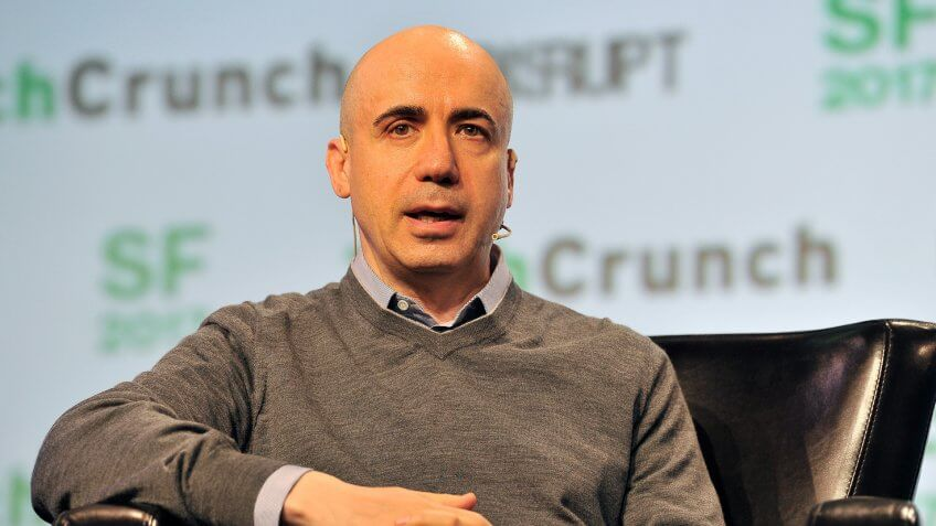 SAN FRANCISCO, CA - SEPTEMBER 18:  Founder of DST Global Yuri Milner speaks onstage during TechCrunch Disrupt SF 2017 at Pier 48 on September 18, 2017 in San Francisco, California.