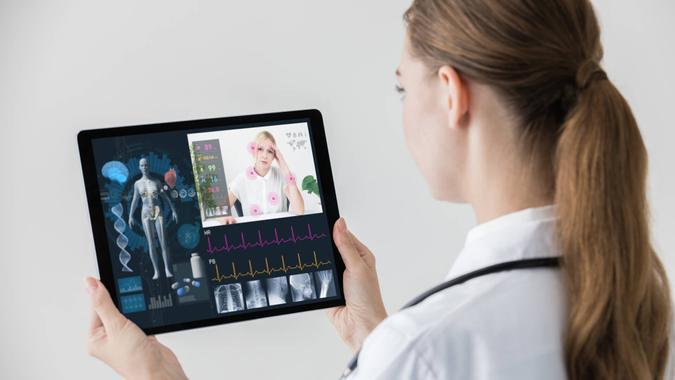 Remote medicine concept.