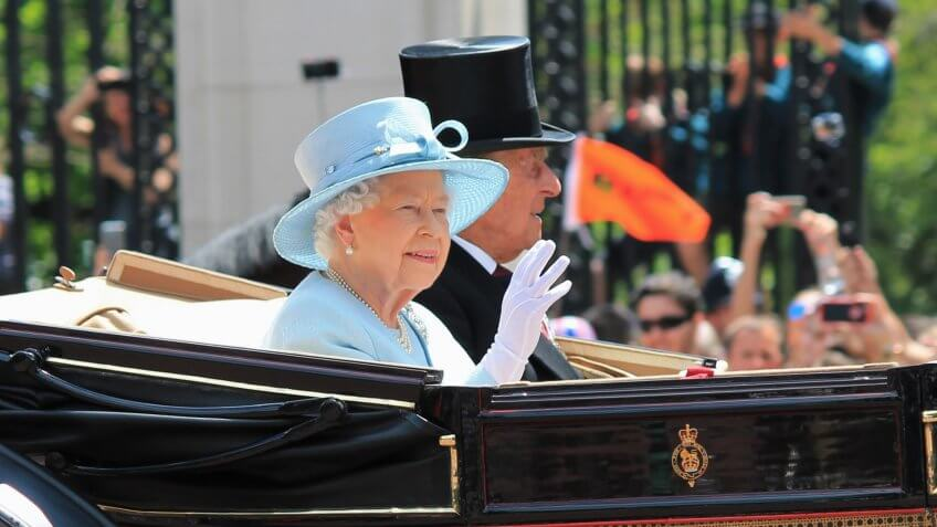 Queen Elizabeth & Prince Phillip, Buckingham Palace, London June 2017- Trooping the Colour for Queen Elizabeths Birthday, June 17, 2017 London, England, UK.