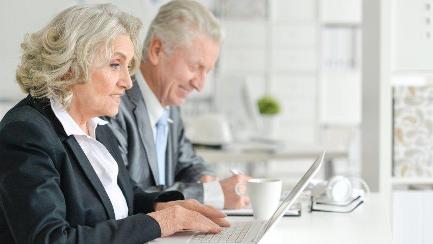MAN, senior employees, senior workers, woman