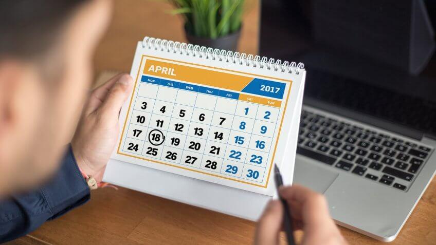 2017 Tax Filing Season Calendar