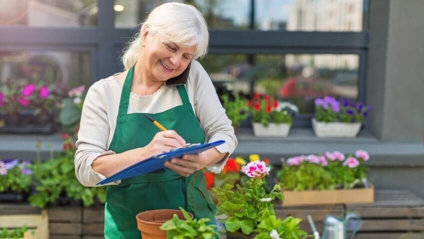 florist, gardener, senior worker