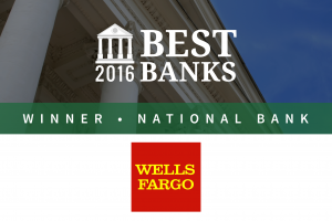 Wells Fargo Is the Best National Bank of 2016