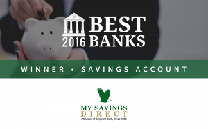 MySavingsDirect Offers Best Savings Account of 2016