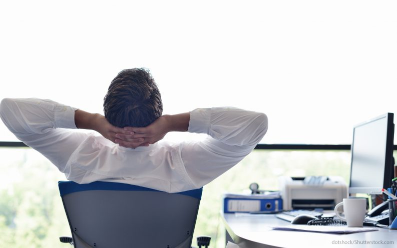 relax during a stock market panic