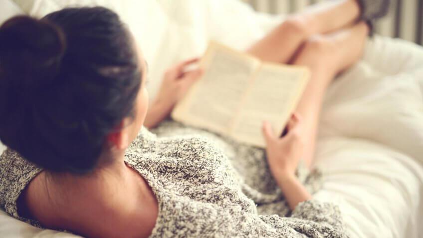 girl reading a good novel