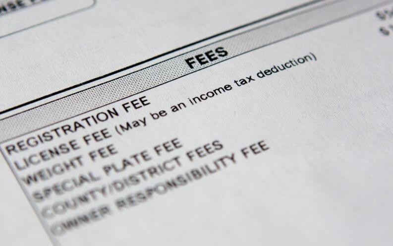 Car Registration Fees