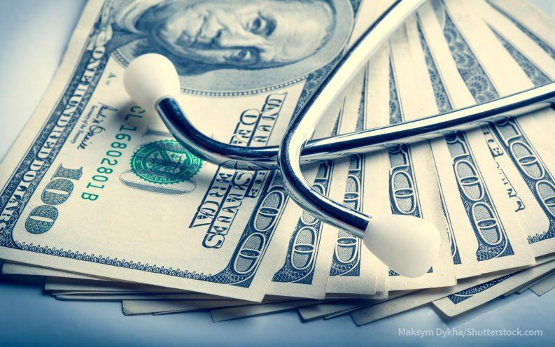 paying cash at doctor