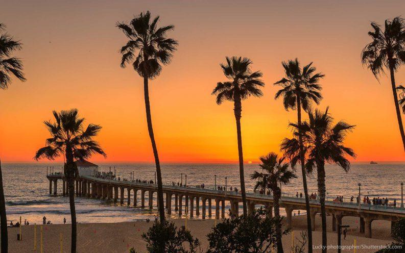 California travel beach sunset