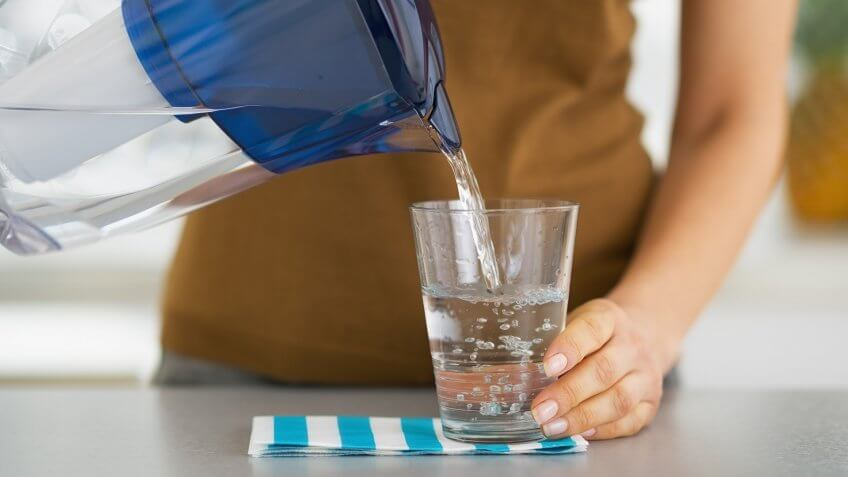 using a filtered water pitcher