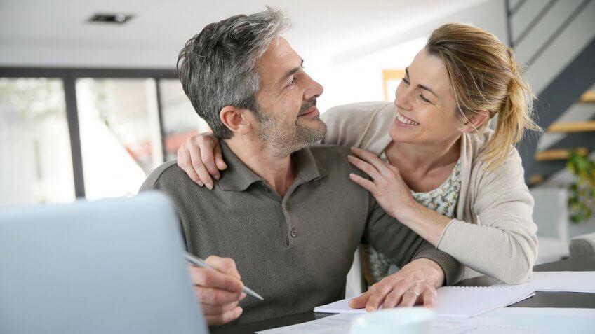older couple planning finances