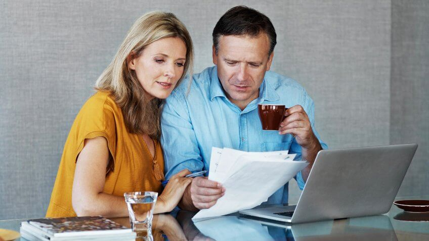 husband and wife planning finances