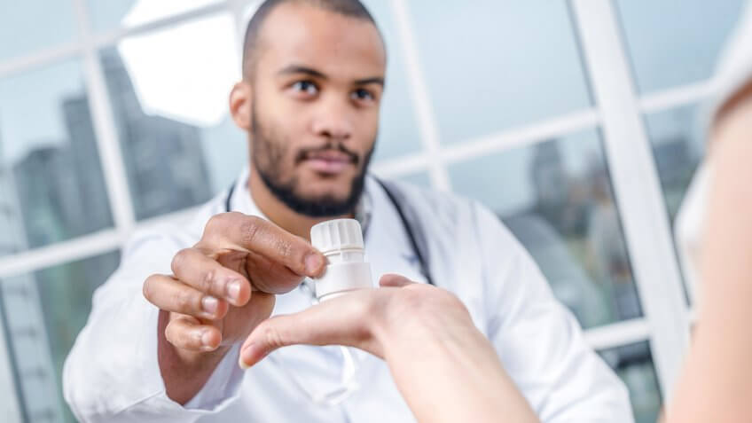 getting medicine from a doctor