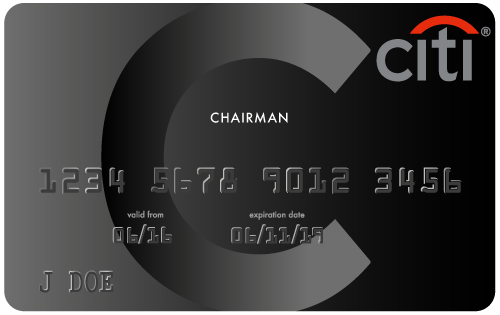black chairman card