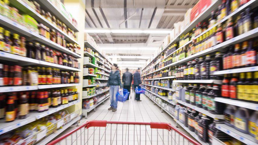 store aisle with full shelves