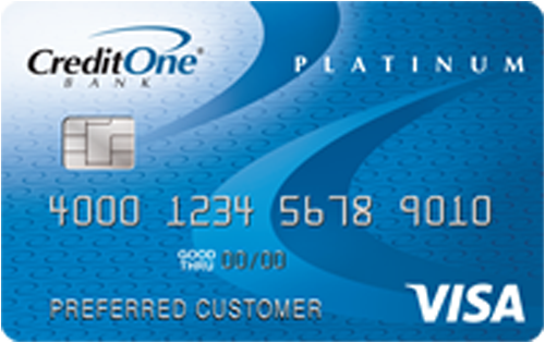 Credit One Platinum Visa for Rebuilding Credit