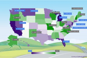 Most (and Least) Expensive States to Own a Car