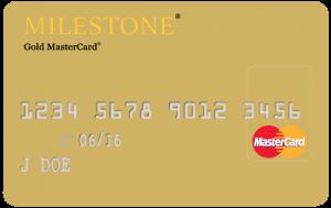 Milestone Gold MasterCard