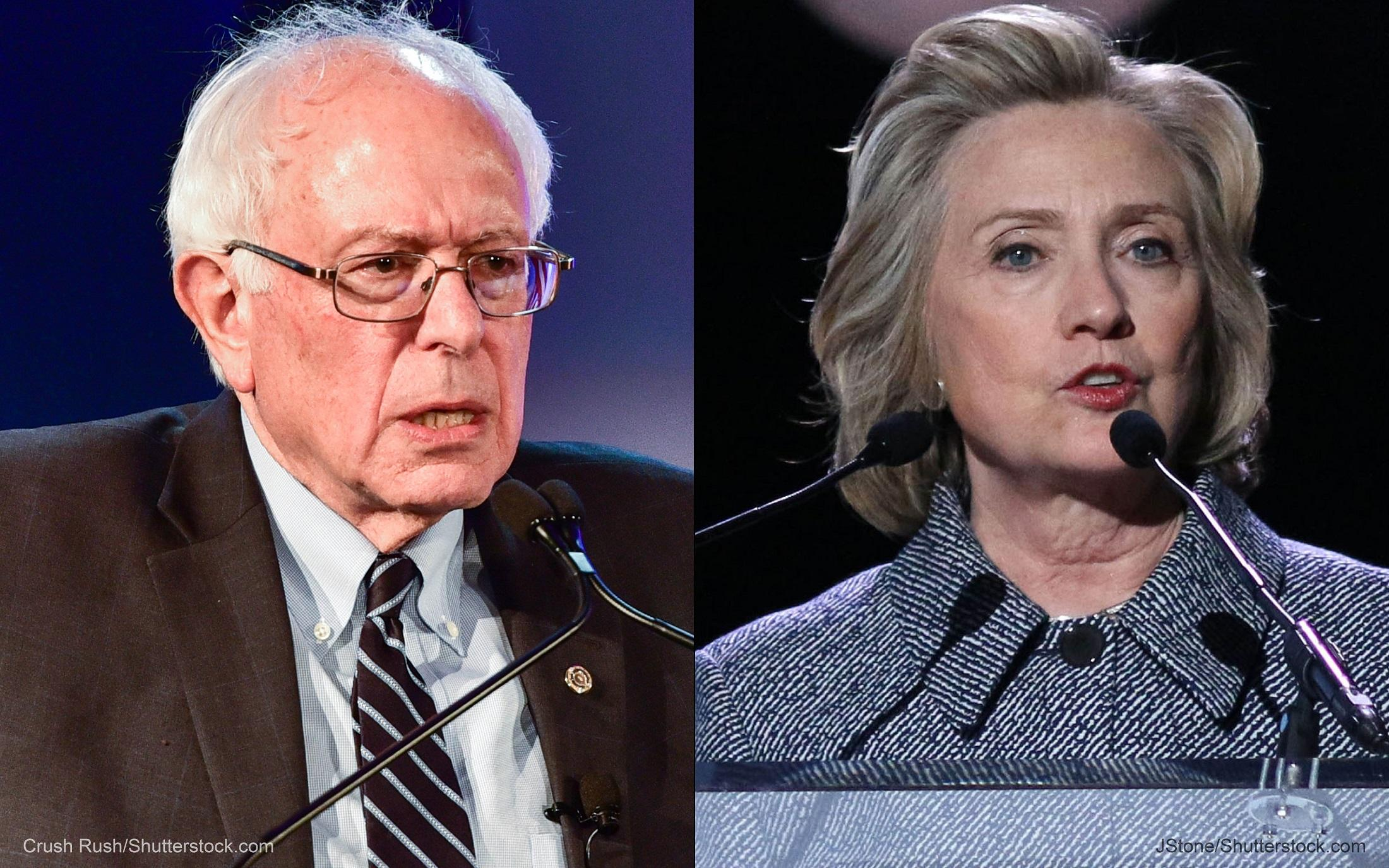 Bernie Sanders, Hillary Clinton at Democratic debate 2016