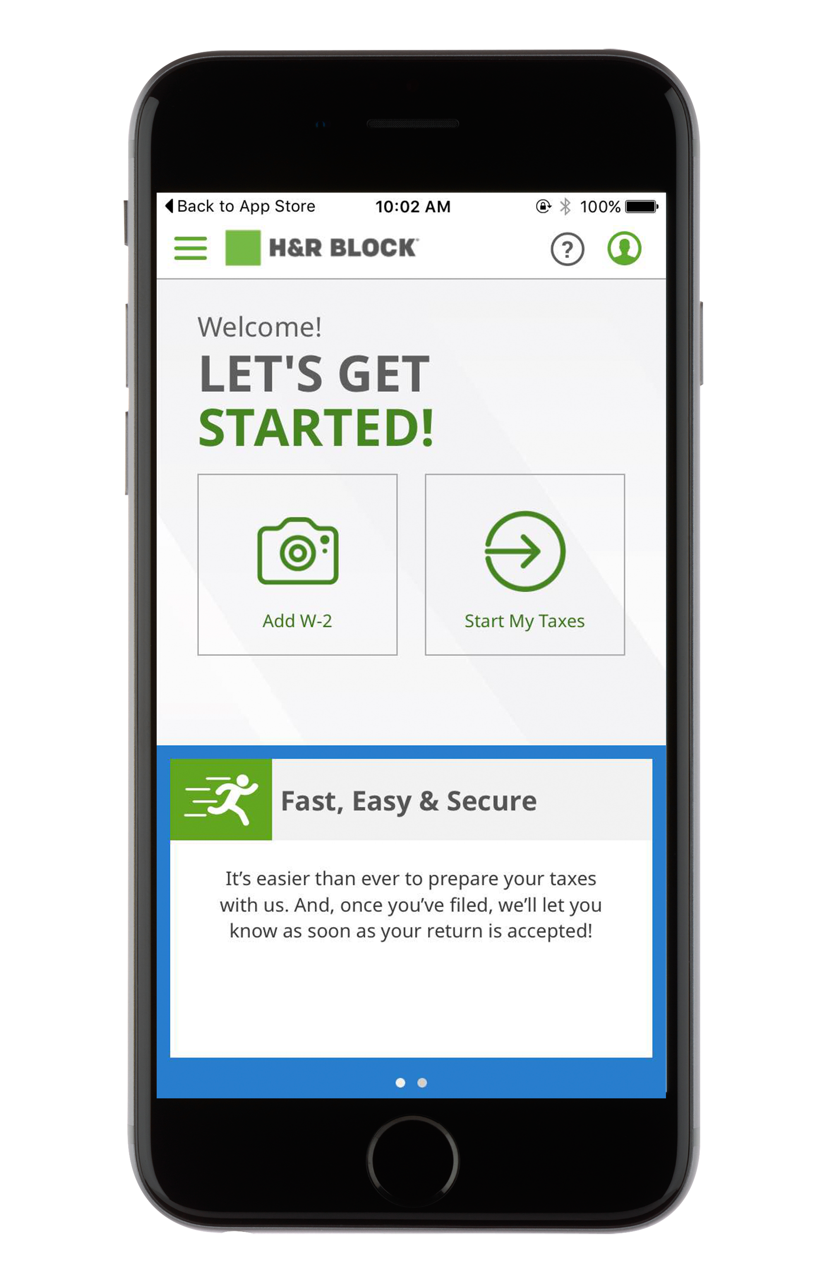 H&R Block Tax Preparation Mobile App